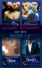 Modern Romance July 2015 Books 1-4: The Ruthless Greek's Return / Bound by the Billionaire's Baby / Married for Amari's Heir / A Taste of Sin (Mills & Boon e-Book Collections) - eBook