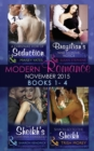 Modern Romance November 2015 Books 1-4: A Christmas Vow of Seduction / Brazilian's Nine Months' Notice / The Sheikh's Christmas Conquest / Shackled to the Sheikh - eBook