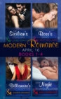 Modern Romance April 2016 Books 1-4: The Sicilian's Stolen Son / Seduced into Her Boss's Service / The Billionaire's Defiant Acquisition / One Night to Wedding Vows - eBook