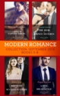 Modern Romance September 2018 Books 5-8: The Heir the Prince Secures / Bound by Their Scandalous Baby / The King's Captive Virgin / A Ring to Take His Revenge - eBook