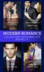 Modern Romance November Books 1-4: The Italian's Christmas Housekeeper / The Innocent's Shock Pregnancy / A Ring to Claim His Legacy / Sheikh's Secret Love-Child - eBook