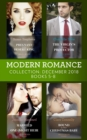 Modern Romance December Books 5-8: Pregnant by the Desert King / The Virgin's Sicilian Protector / Married for His One-Night Heir / Bound by Their Christmas Baby - eBook
