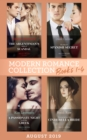 Modern Romance August 2019 Books 1-4: The Argentinian's Baby of Scandal (One Night With Consequences) / The Maid's Spanish Secret / A Passionate Night with the Greek / Contracted as His Cinderella Bri - eBook
