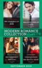 Modern Romance September Books 1-4: His Cinderella's One-Night Heir (One Night With Consequences) / Irresistible Bargain with the Greek / His Forbidden Pregnant Princess / Consequences of a Hot Havana - eBook