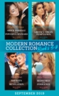 Modern Romance Books September Books 5-8: Shock Marriage for the Powerful Spaniard (Conveniently Wed!) / The Greek's Virgin Temptation / Sheikh's Royal Baby Revelation / Redeemed by Her Innocence - eBook