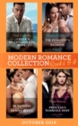 Modern Romance October 2019 Books 5-8: The Greek's Billion-Dollar Baby (Crazy Rich Greek Weddings) / The Innocent's Emergency Wedding / Demanding His Desert Queen / Virgin Princess's Marriage Debt - eBook
