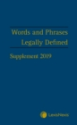 Words and Phrases Legally Defined 2019 Supplement - Book