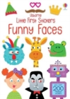 Little First Stickers Funny Faces - Book