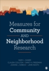 Measures for Community and Neighborhood Research - Book