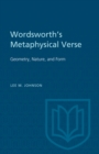 Wordsworth's Metaphysical Verse : Geometry, Nature, and Form - eBook