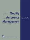 Quality Assurance Management - eBook
