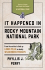 It Happened In Rocky Mountain National Park : Stories of Events and People that Shaped a National Park - eBook