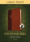 Living Bible Large Print Edition Brown/Tan, Indexed - Book
