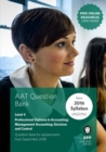 AAT Management Accounting Decision & Control : Question Bank - Book