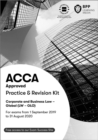 ACCA Corporate and Business Law (Global) : Practice and Revision Kit - Book