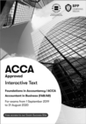 FIA Foundations of Accountant in Business FAB (ACCA F1) : Interactive Text - Book