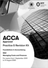 FIA Managing Costs and Finances MA2 : Practice and Revision Kit - Book