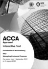 FIA Managing Costs and Finances MA2 : Interactive Text - Book
