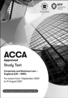 ACCA Corporate and Business Law (English) : Study Text - Book