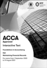 FIA Maintaining Financial Records FA2 : Interactive Text - Book