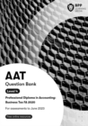 AAT Business Tax FA2020 : Question Bank - Book