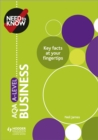 Need to Know: AQA A-level Business - eBook