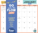 Go with the Flow Desk Calendar 2020 : A Magnetic Monthly Calendar Perfect for a Fridge, Wall, or Desk - Book
