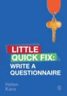 Write a Questionnaire : Little Quick Fix - Book