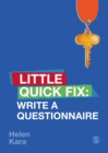 Write a Questionnaire : Little Quick Fix - eBook
