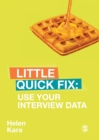 Use Your Interview Data : Little Quick Fix - Book