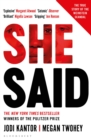 She Said : The New York Times Bestseller - eBook