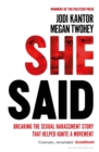 She Said : The New York Times Bestseller - Book