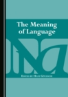 The Meaning of Language - eBook