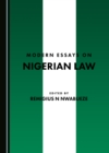 None Modern Essays on Nigerian Law - eBook