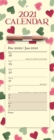 Emma Bridgewater Pink & Green Hearts Week-to-View Magnetic Memo Slim Calendar 2021 - Book