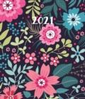 Fashion Diary Floral Pattern Square Pocket Diary 2021 - Book