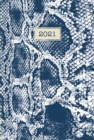 Fashion Diary Blue Snakeskin Pocket Diary 2021 - Book