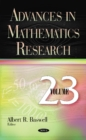 Advances in Mathematics Research : Volume 23 - Book