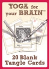 Yoga for Your Brain - 20 Blank Tangle Cards - Book