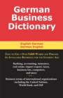 German Business Dictionary - eBook