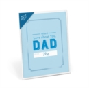 Knock Knock What I Love About Dad Fill in the Love Card Booklet - Book