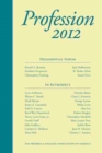 Profession 2012 - eBook