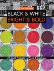 Black & White, Bright & Bold : 24 Quilt Projects to Piece & Applique - eBook