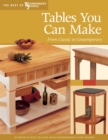 Tables You Can Make : From Classic to Contemporary - eBook