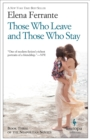 Those Who Leave and Those Who Stay : Neapolitan Novels, Book Three - eBook