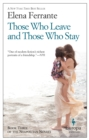 Those Who Leave and Those Who Stay - Book