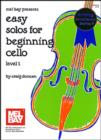 Easy Solos for Beginning Cello Level 1 - eBook