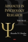 Advances in Psychology Research. Volume 87 - eBook