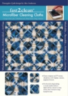 fast2clean (TM) Pineapple Quilt Microfiber Cleaning Cloths : 1 Large Cloth, Plus 1 Medium and 2 Mini - Book