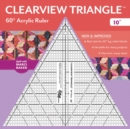 "Clearview Triangle (TM) 60 Degrees Acrylic Ruler - 10"" - Book"